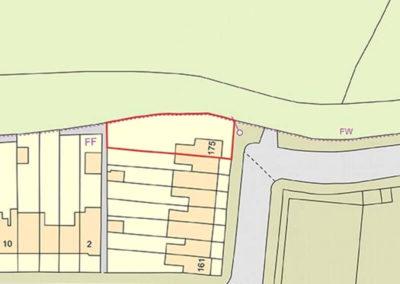 175 Nightingale Lane - Boundary map