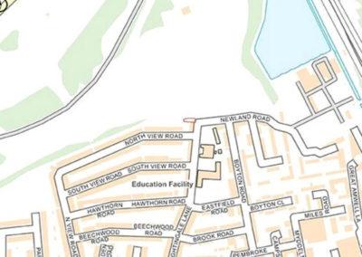 Location area map - Nightingale Lane