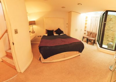 Master bedroom at 3d Bedfordbury, Covent Garden WC2N 4BP