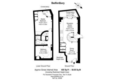 Floorplan for 3d Bedfordbury, Covent Garden WC2N 4BP